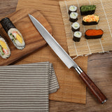 SUNNECKO 10.5 inch Professional Sashimi Knife Wood Handle