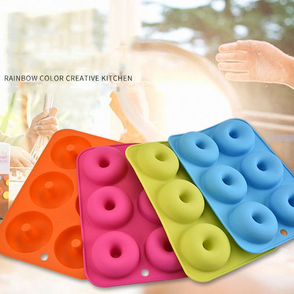 Bakeware Silicone Donut Mold with 6 Connections