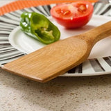 Bamboo Wood Kitchen Slotted Spatula