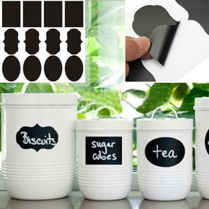 3 Designs 24pcs/lot Vinyl Chalkboard Label Stickers,Modern kitchen Organizing Chalkboard Stickers Decor