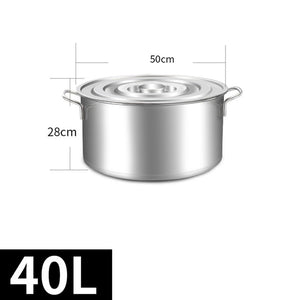 Commercial Stainless Steel Soup Bucket With Lid Soup Pot Large Capacity School Kitchen Restaurant Hotel Barrel Cookware Cooking