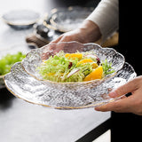 Hammer Pattern Phnom Penh Glass Fruit Dessert Salad Plate Japanese Vegetable Home Creative Living Room Dish Dessert Bowl