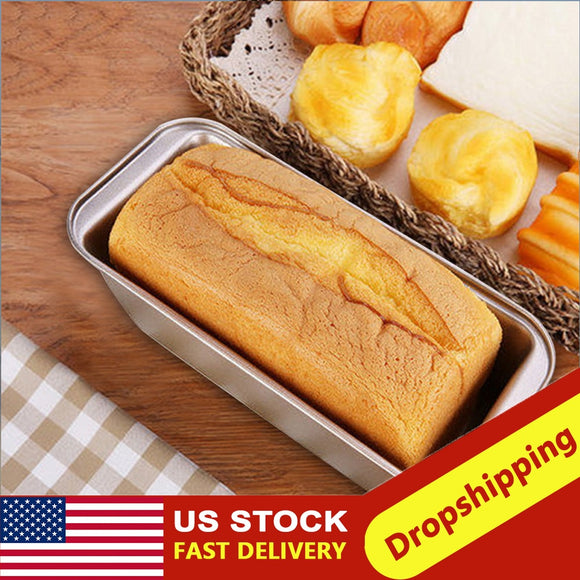 1pc Loaf Pan Rectangle Toast Bread Mold Cake Mold Carbon Steel Pastry Baking Bakeware Cake Baking Mold Pan Baking Supplies#3