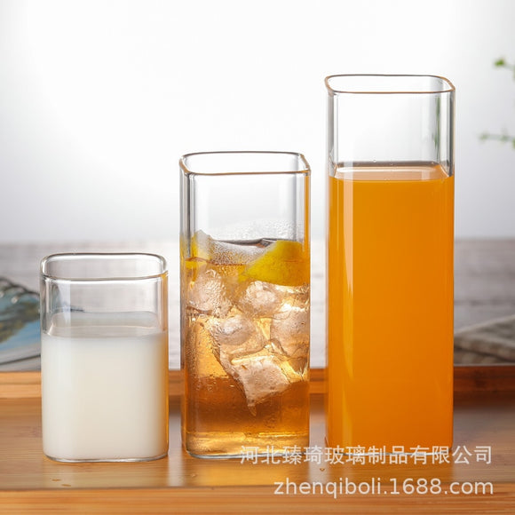 Northern European-Style Party CUP Glass Sub-Beverage Breakfast Milk Gift Fruit Juice Soybean Milk Daily Use New Products