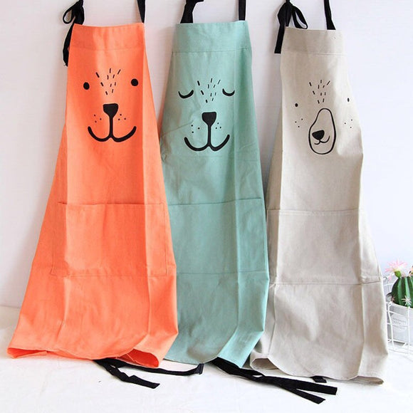 Nordic Durable Parent-child Apron Waterproofing Oilproof Adjustable Kitchen Apron for Adult Children Household Cleaning Tools