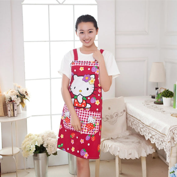 cotton women aprons creative printed Funny kitchen apron with pocket hot household cleaning accessories cooking apron