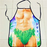 Hot Apron For Women Spoof Sexy Novelty Apron Naked Party men Kitchen Cooking BBQ Party Bar Funny Aprons Dinner Baking