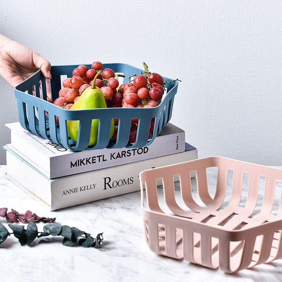 2pcs PP Solid Kitchen Organizer Baskets Plastic Storage Container Fruit Basket To Organize Dish Drainer Boxes For Storage New