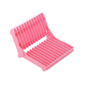 kitchen accessories organizer White Color Rein Folding Rack Rack Dish Plate Kitchen Storage Draining Rack Drying Dish Organ A0W1