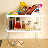 Folding Storage Rack Bathroom Kitchen Storage Racks Cosmetics Organizers Desktop Storage Rack Shelf Bathroom Organizer Shelf