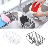 Hanging Drying Basket Kitchen Wrought Iron Drain Rack Sponge Brush For Sink Holder Storage Gadgets Organizers Drainage C8R6