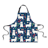 FORUDESIGNS Westie Sleeveless Apron 3D Flowers Dog Anti-oil Aprons kitchen Cooking Waist Bib Custom Women Apron BBQ Pinafore