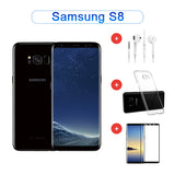 Value Package - Refurbished Samsung Galaxy S8 64GB Single Sim ( Black / Purple ) + Accessories