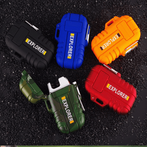 Rapture Unlimited CAMOUFLAGE+BLUE【$16.99/PC】 ABS USB Charging Silent Lighter Waterproof & Windproof Outdoor Explorer