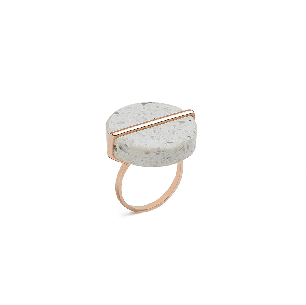 Ivory Disc Ring