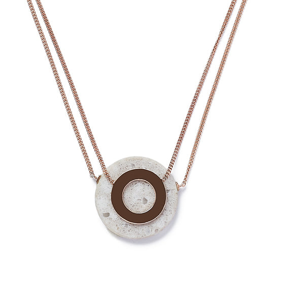 Grey Eye Necklace