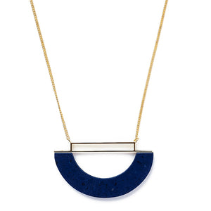 Arabian Blue Halfmoon Necklace