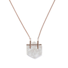 Load image into Gallery viewer, Grey Honeycomb Necklace
