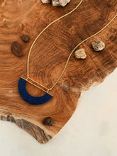 Load image into Gallery viewer, Arabian Blue Halfmoon Necklace