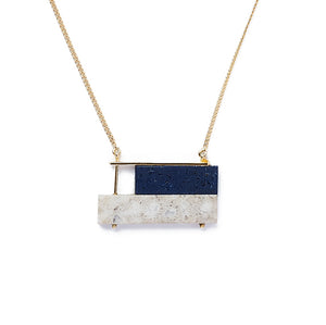 Arabian Blue/Grey Skyline Necklace
