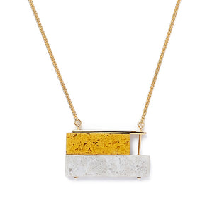 Mustard/Grey Skyline Necklace
