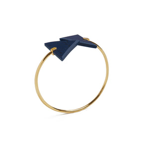 Arabian Blue Triangle Spiral Bangle