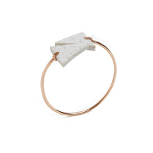Load image into Gallery viewer, Ivory Triangle Spiral Bangle