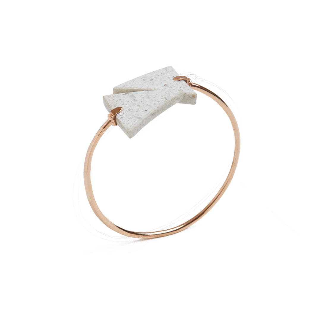 Ivory Triangle Spiral Bangle