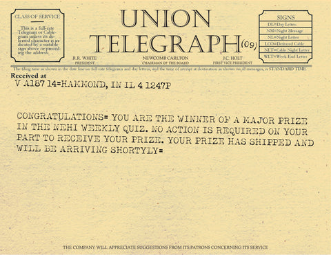 Union Telegraph from A Christmas Story
