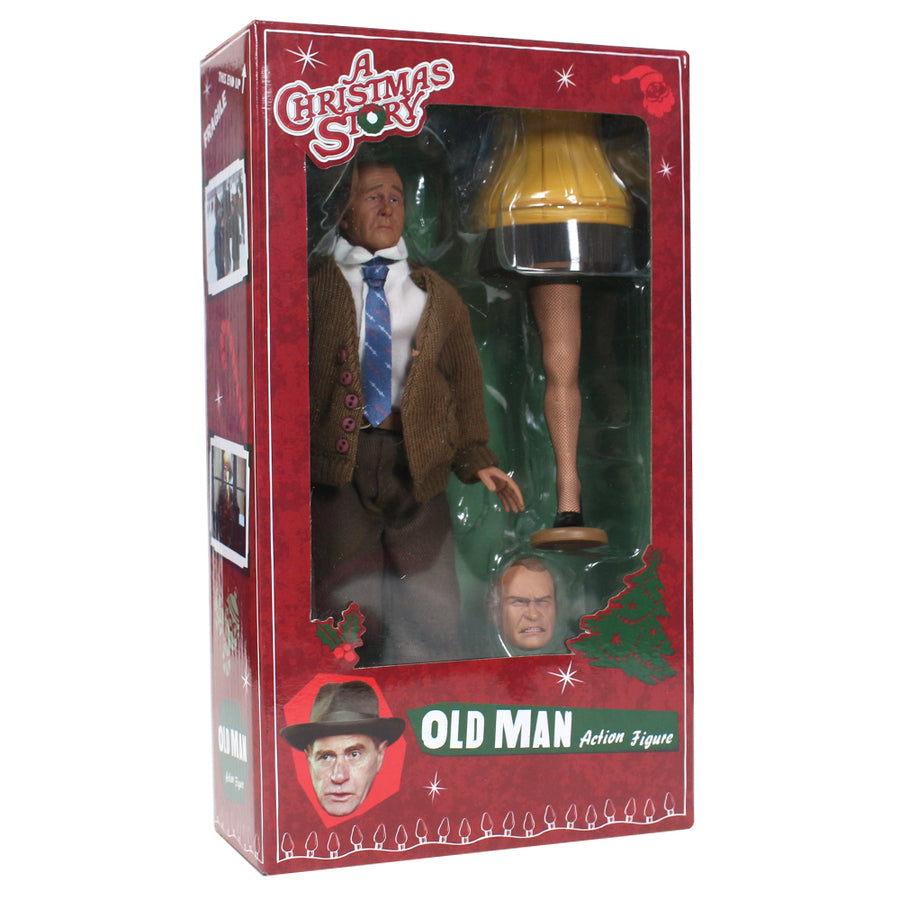 "Old Man 8"" Clothed Figure from A Christmas Story"