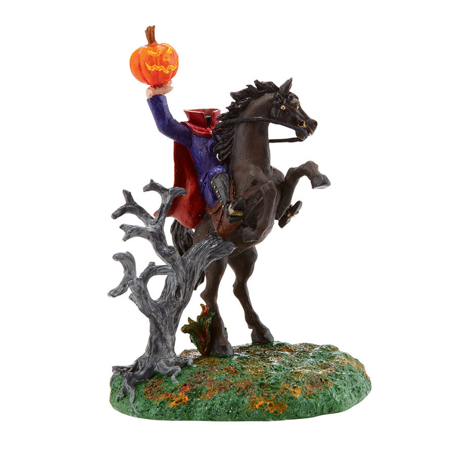 The Headless Horseman from Dept 56 Halloween Snow Village
