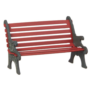Red Wrought Iron Park Bench From Dept 56