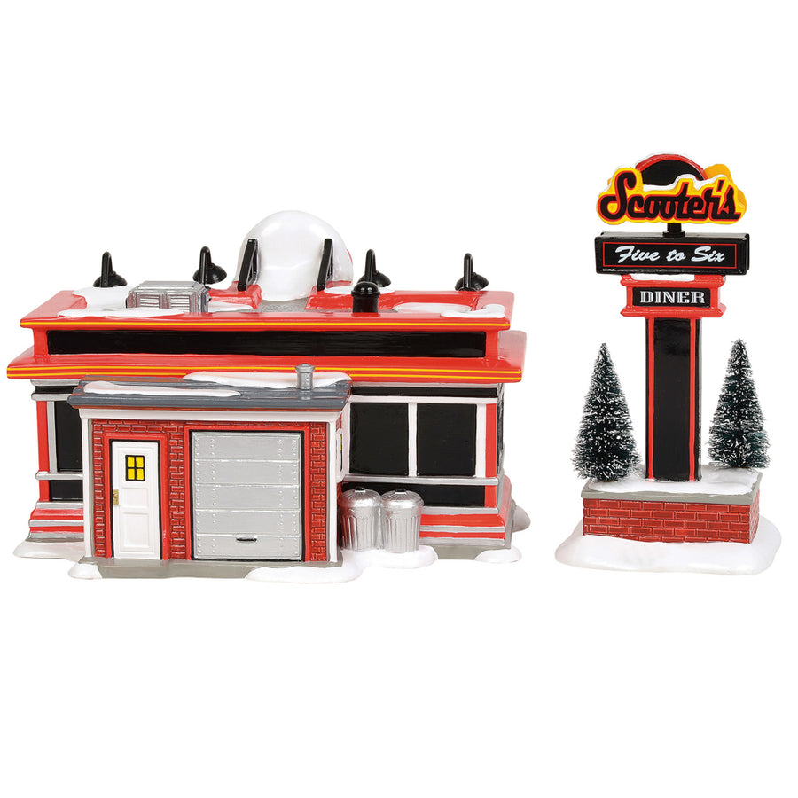 Scooter's Diner From Dept 56 Snow Village