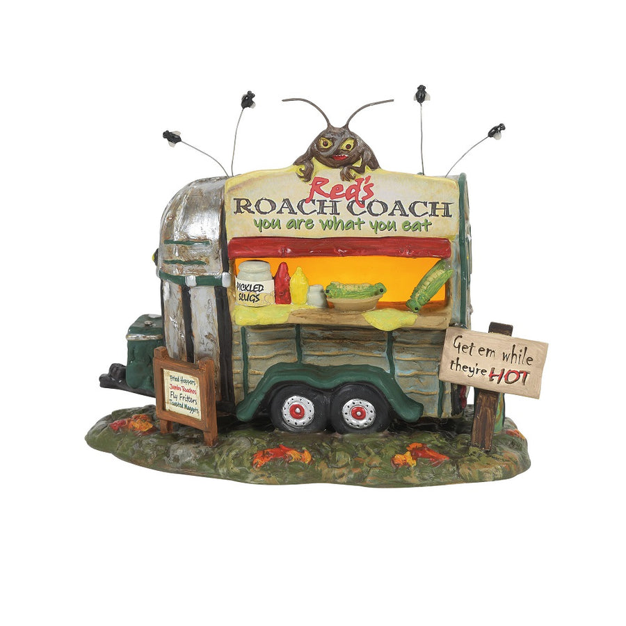 Red's Roach Coach From Dept 56 Halloween Snow Village