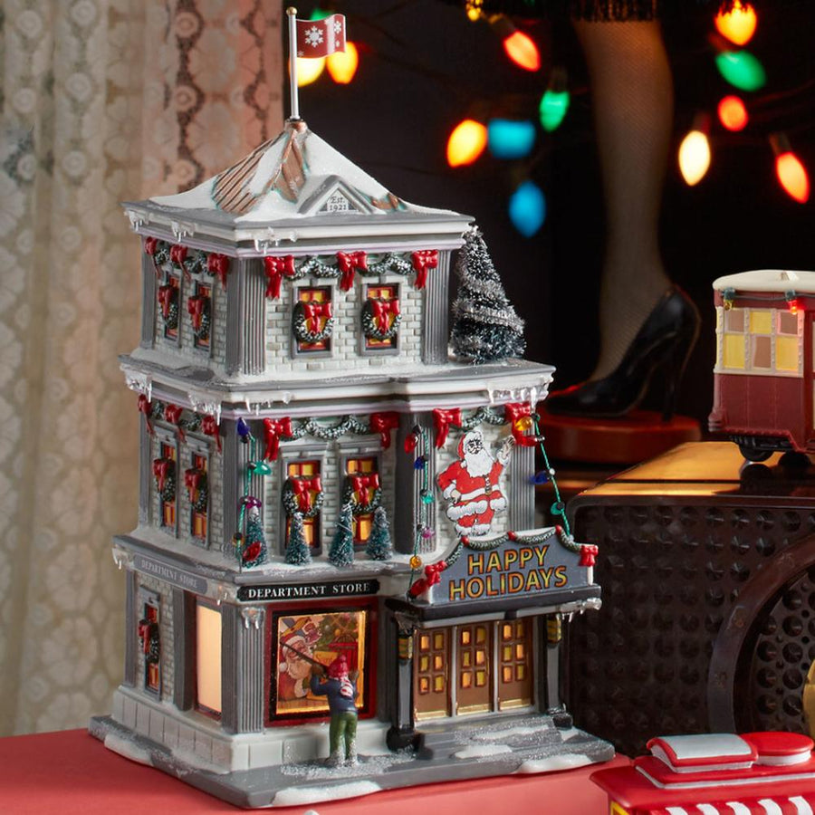 Happy Holidays Department Store from Dept 56 A Christmas Story Village