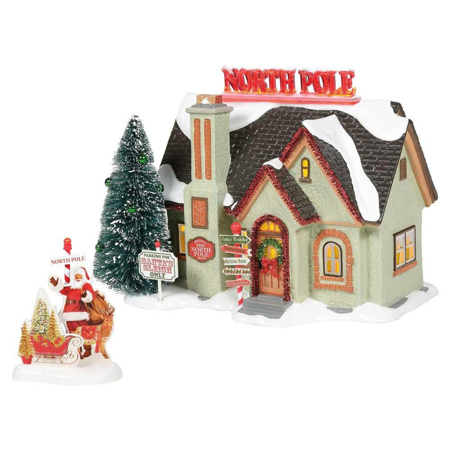 North Pole House From Dept 56 Snow Village