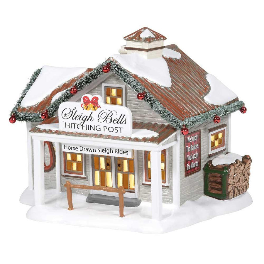 Sleigh Bells Hitching Post From Dept 56 Snow Village