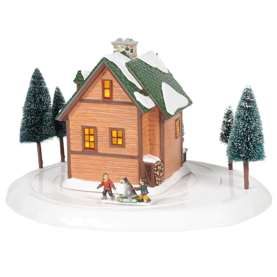 Winter Wonderland Cabin From Dept 56 Snow Village