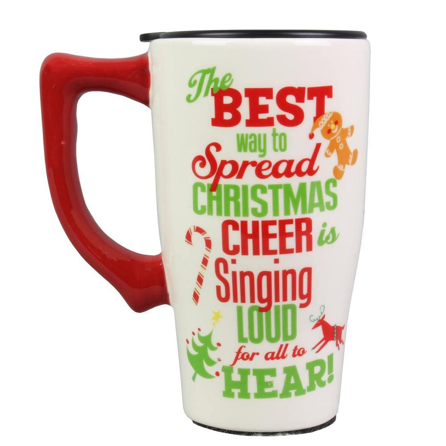 Buddy The Elf Ceramic Travel Mug w/Lid From Elf The Movie