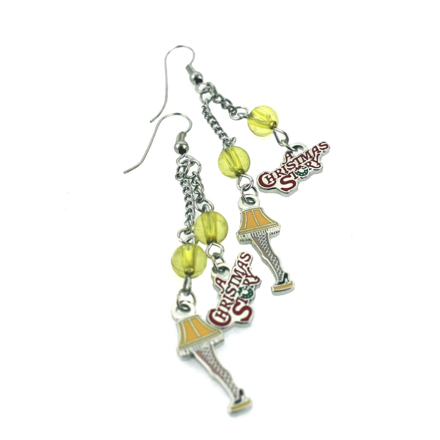 Leg Lamp Earrings from A Christmas Story