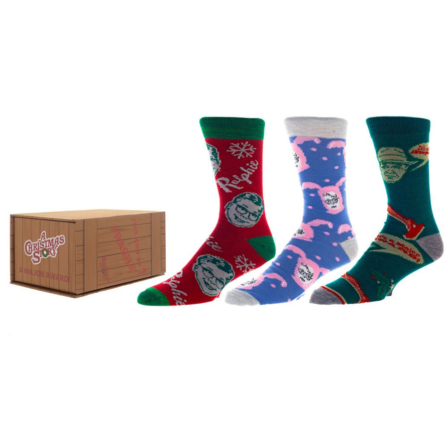 A Christmas Story Crew Sock Box Set - 3 Pack