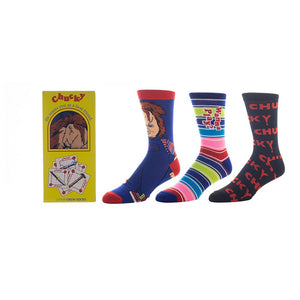 Chucky 3 Pack Crew Socks from Child's Play