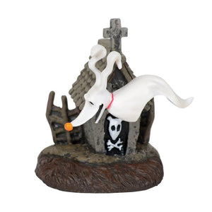 Zero and His Dog House From Dept 56 The Nightmare Before Christmas