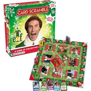 Elf Card Scramble Board Game