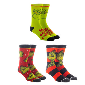 Grinch 3 Pack Crew Socks from How the Grinch Stole Christmas
