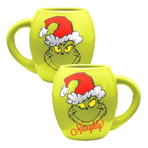 The Grinch Naughty & Nice 18oz Oval Mug from How the Grinch Stole Christmas