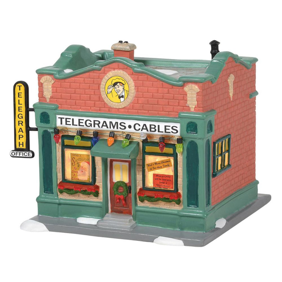 Hohmans Telegraph Office From Dept 56 A Christmas Story Village **PRE-ORDER**