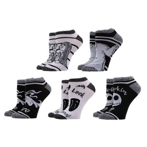 The Nightmare Before Christmas 5 Pack Ankle Socks