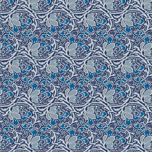 Liberty of London Hesketh House Dianthus Dreams Blue Quilt Fabric