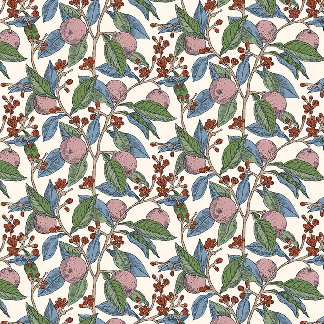 Liberty of London Summer House Conservatory Fruits Rose fabric by Riley Blake